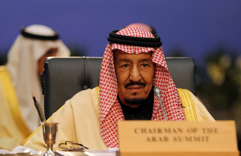 Saudi Arabia's King Salman attends Arab league and EU summit, in Sharm el-Sheikh