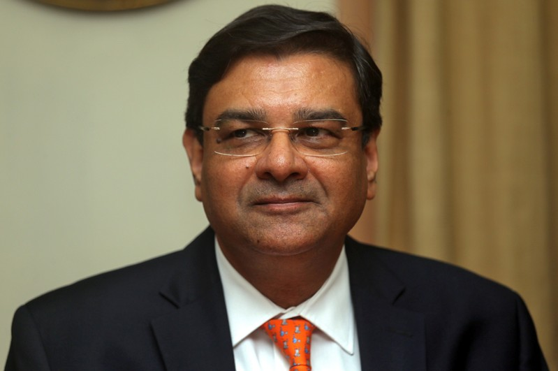 The Reserve Bank of India Governor Urjit Patel pauses during a news conference after a monetary policy review in Mumbai