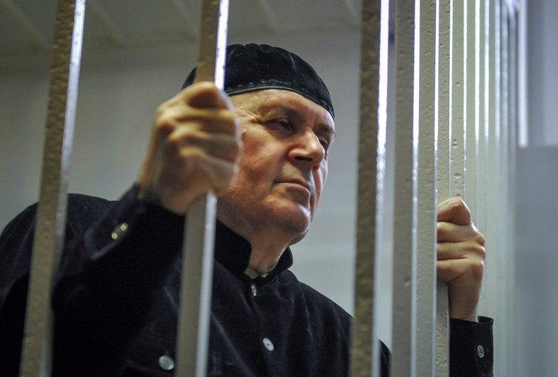 Oyub Titiev, the head of human rights group Memorial in Chechnya, attends his verdict hearing at a court in the town of Shali, in Chechnya