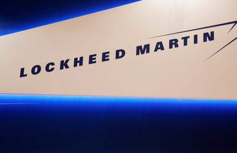 FILE PHOTO: Lockheed Martin's logo is seen during Japan Aerospace 2016 air show in Tokyo