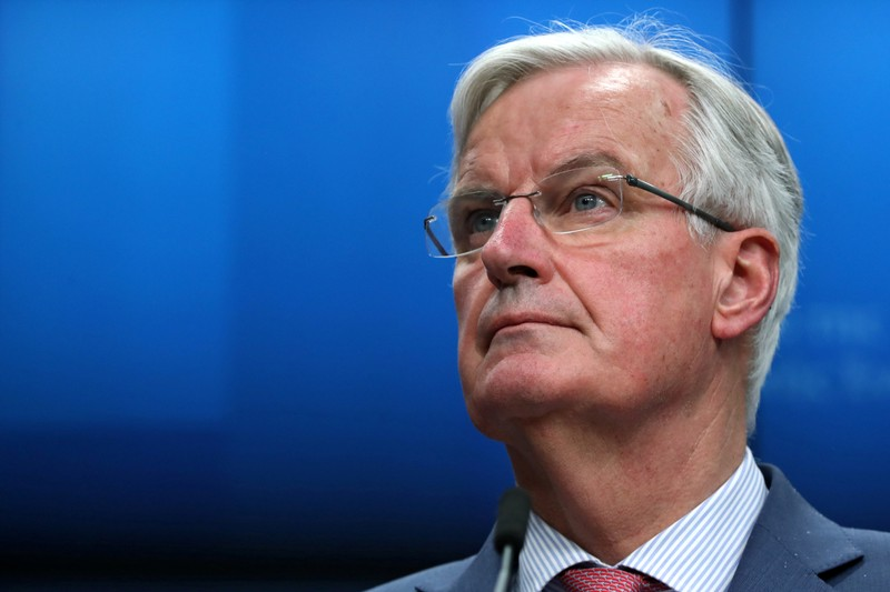 EU chief Brexit negotiator Barnier holds a news conference after a General Affairs Council on Article 50 in Brussels