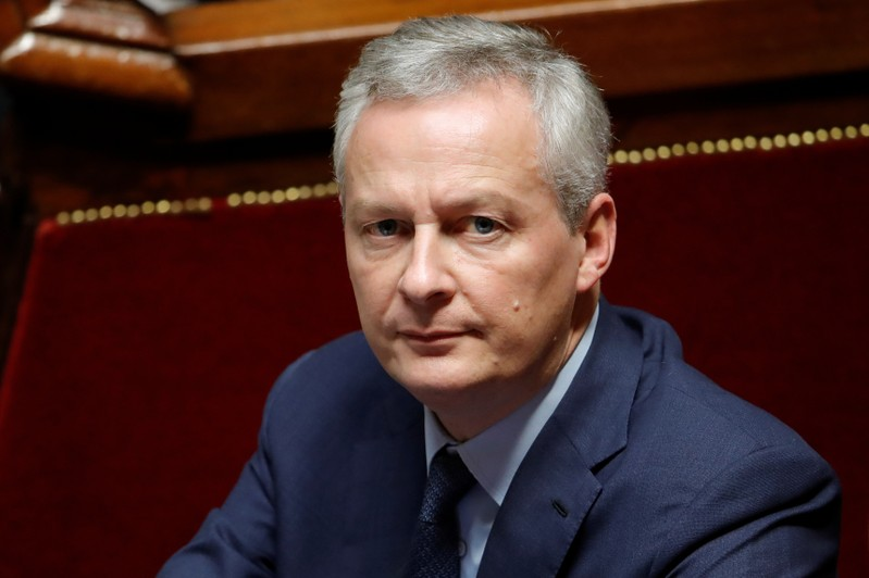 French Finance Minister Bruno Le Maire attends the questions to the government session at the National Assembly in Paris
