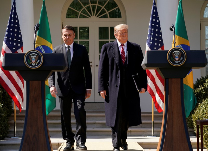 Brazil's far-right president visits Central Intelligence Agency on first United States visit