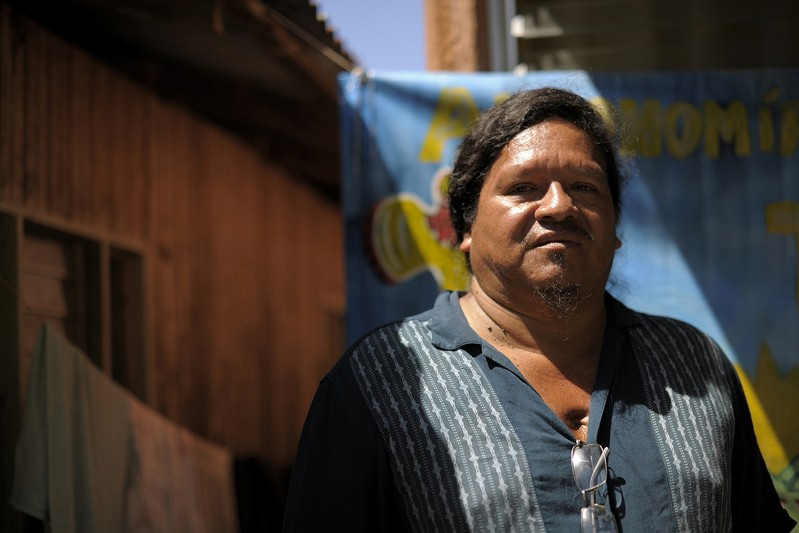 Sergio Rojas indigenous land activist is pictured during a interview in Salitre, Buenos Aires de Puntarenas