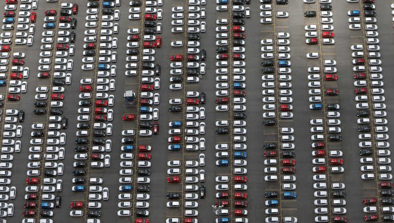 FILE PHOTO: New Ford vehicles are seen at a parking lot of the Ford factory in Sao Bernardo do Campo