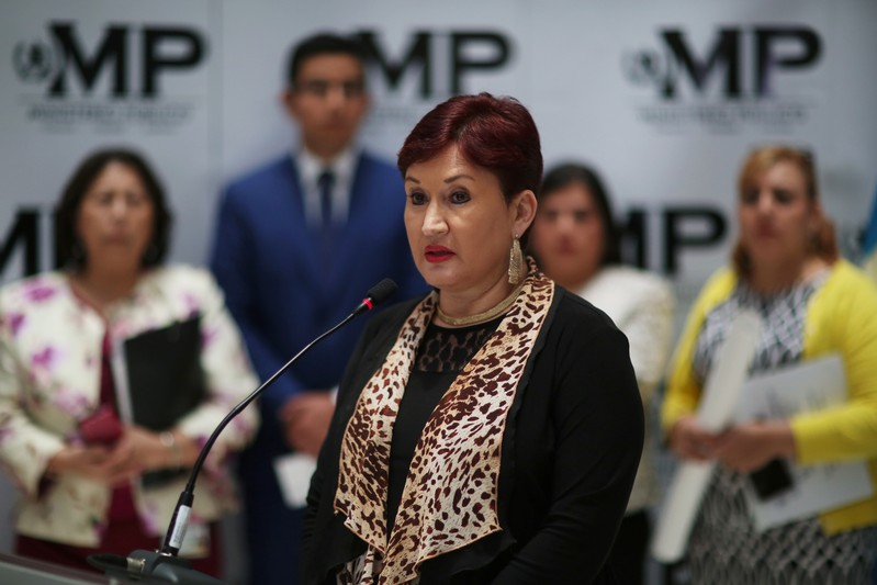 FILE PHOTO - Guatemalan Attorney General Thelma Aldana participates in a news conference in Guatemala City