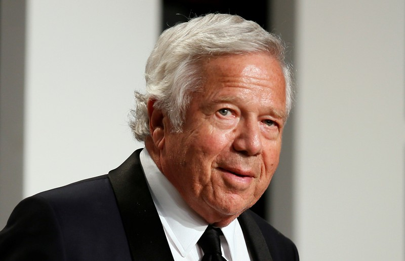 FILE PHOTO: New England Patriots owner Robert Kraft arrives for the 89th Academy Awards Oscars Vanity Fair Party in Beverly Hills