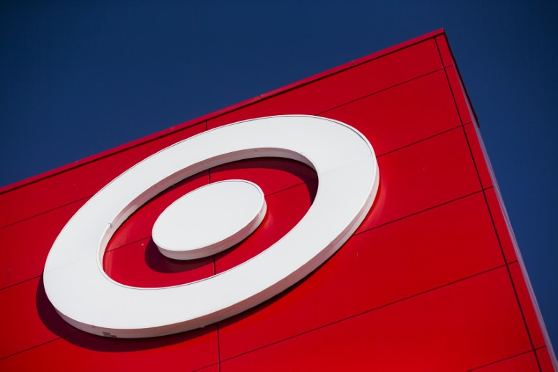 A Target logo is seen during the going-out-of-business sale at Target Canada in Toronto