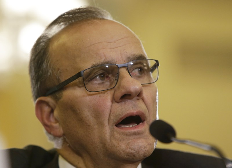 FILE PHOTO: Joe Torre testifies before Senate Committee on Commerce Science and Transportation on domestic violence in professional sports in Washington