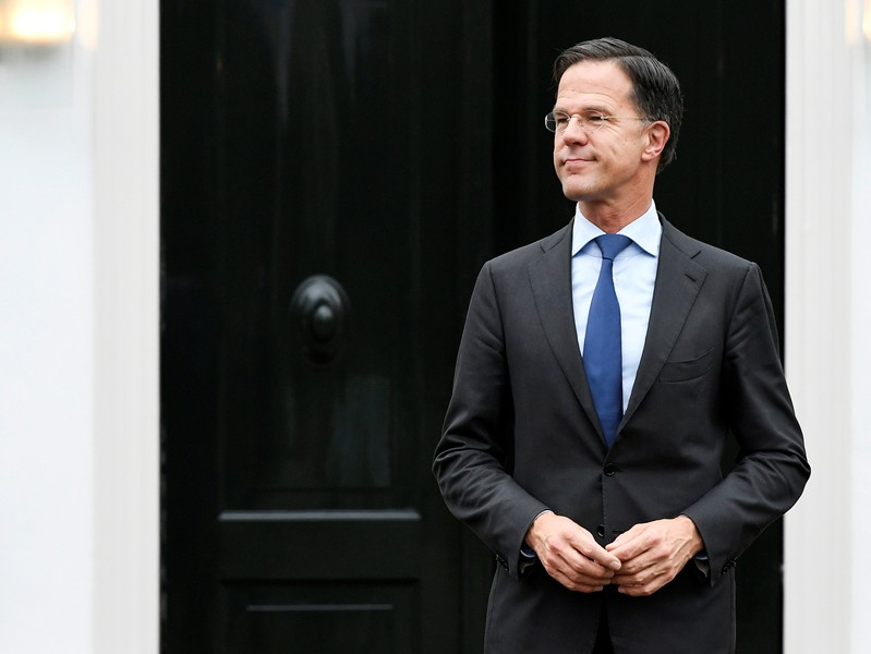 European Council President Donald Tusk meets Dutch Prime Minister Mark Rutte for talks ahead of next week's EU summit