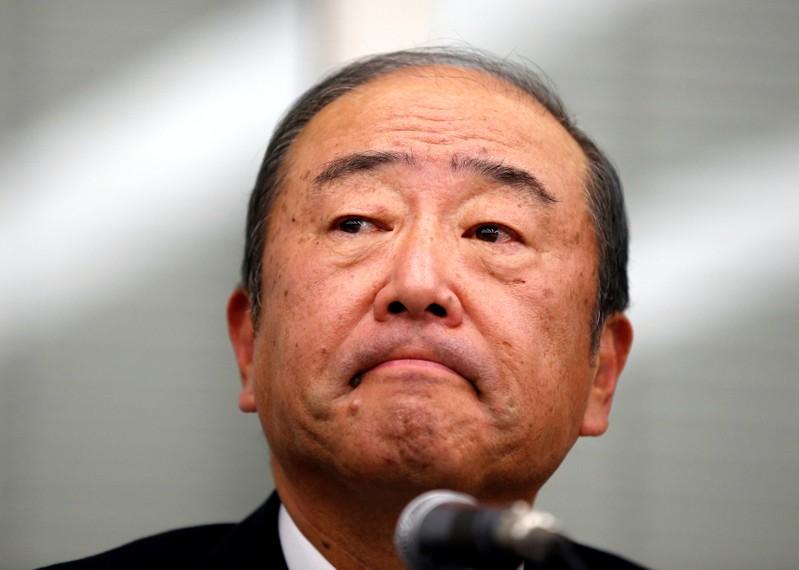 Idemitsu Kosan Co. Chief Executive Officer Takashi Tsukioka attends a news conference in Tokyo, Japan