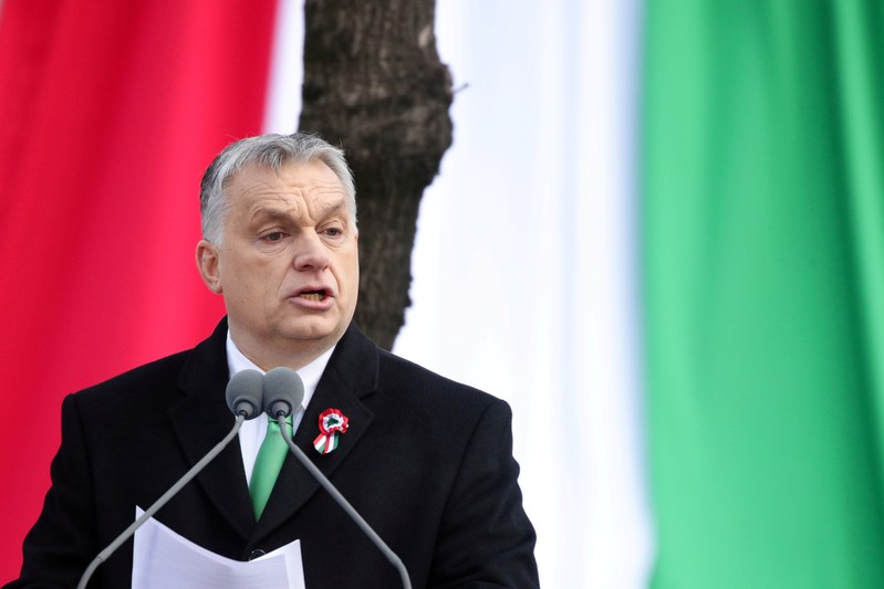 FILE PHOTO: Hungary's National Day celebrations in Budapest