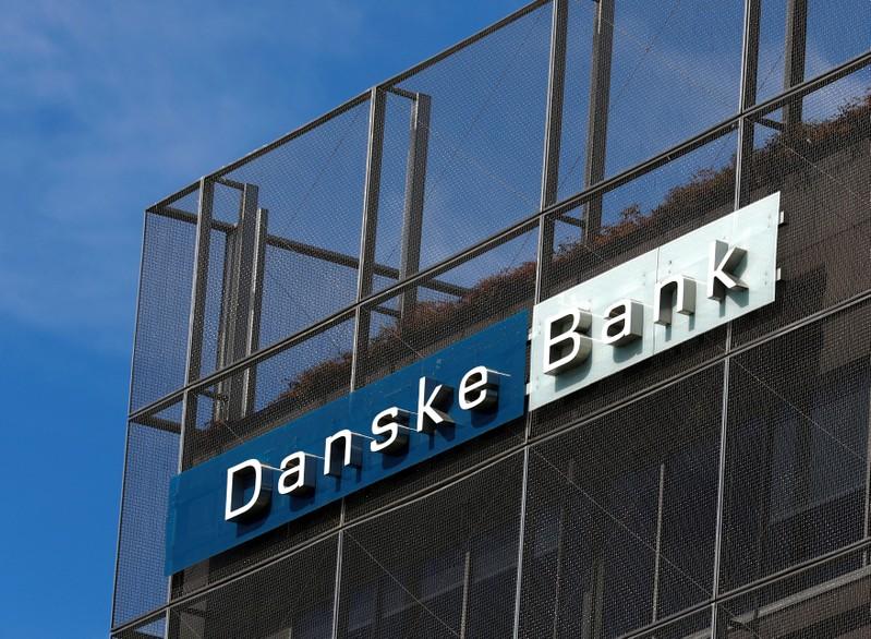 FILE PHOTO: Danske Bank sign is seen at the bank's Estonian branch in Tallinn