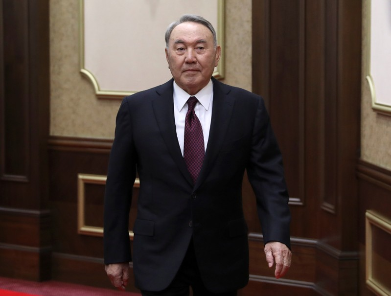 Former President of Kazakhstan Nazarbayev attends a joint session of the houses of parliament in Astana