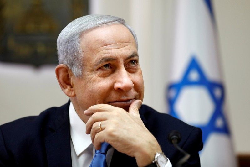 FILE PHOTO: Israeli Prime Minister Benjamin Netanyahu attends the weekly cabinet meeting in Jerusalem