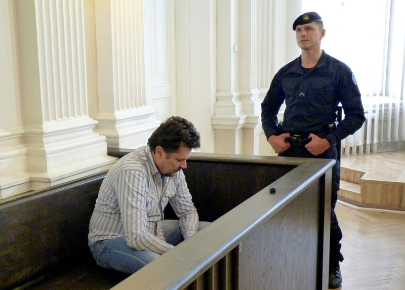 FILE PHOTO: Rimasauskas ahead of a verdict announcement in his extradition case at a court in Vilnius