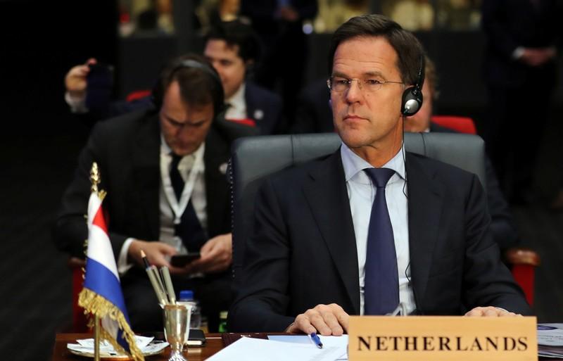 Dutch Prime Minister Mark Rutte attends Arab league and EU summit, in Sharm el-Sheikh