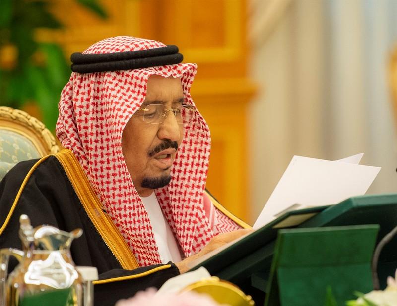 FILE PHOTO - Saudi Arabia's King Salman bin Abdulaziz Al Saud attends the 2019 budget meeting in Riyadh