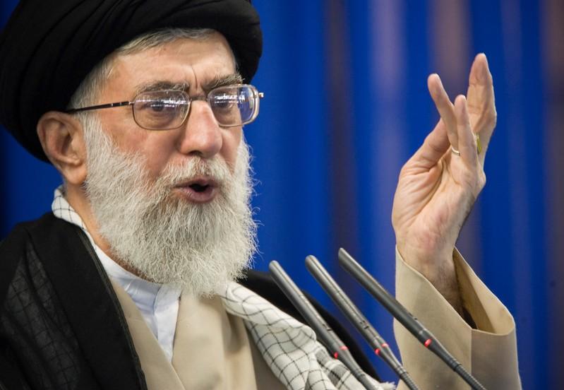 FILE PHOTO - Iran's Supreme Leader Ayatollah Ali Khamenei speaks during Friday prayers in Tehran