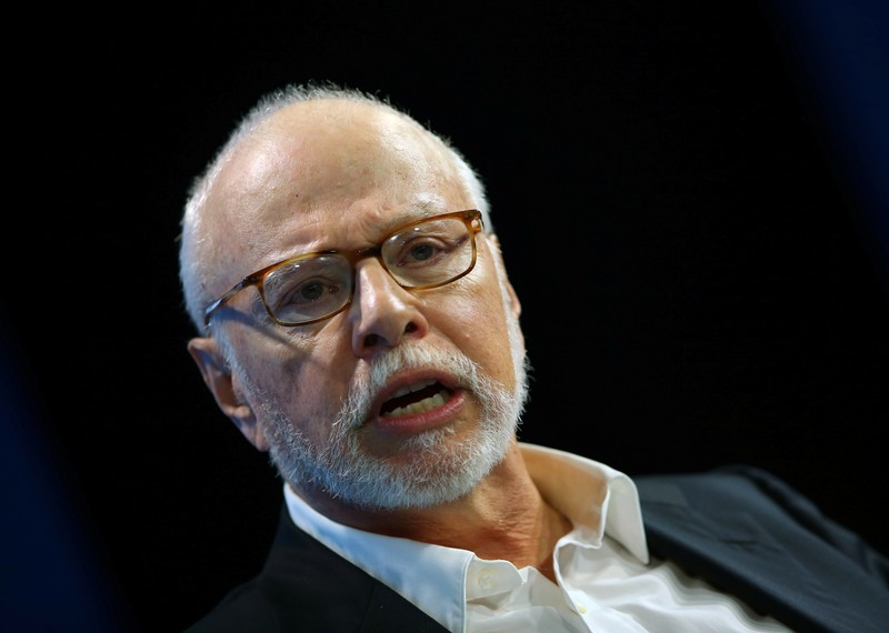 FILE PHOTO: Paul Singer, founder and president of Elliott Management Corporation, speaks at WSJD Live conference in Laguna Beach