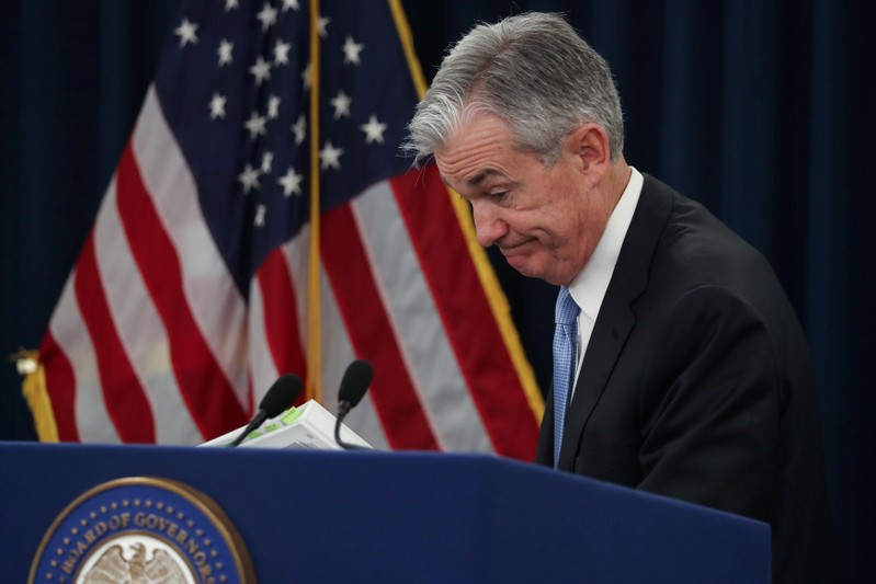 FILE PHOTO: U.S. Federal Reserve Chairman Powell holds news conference following two-day policy meeting in Washington