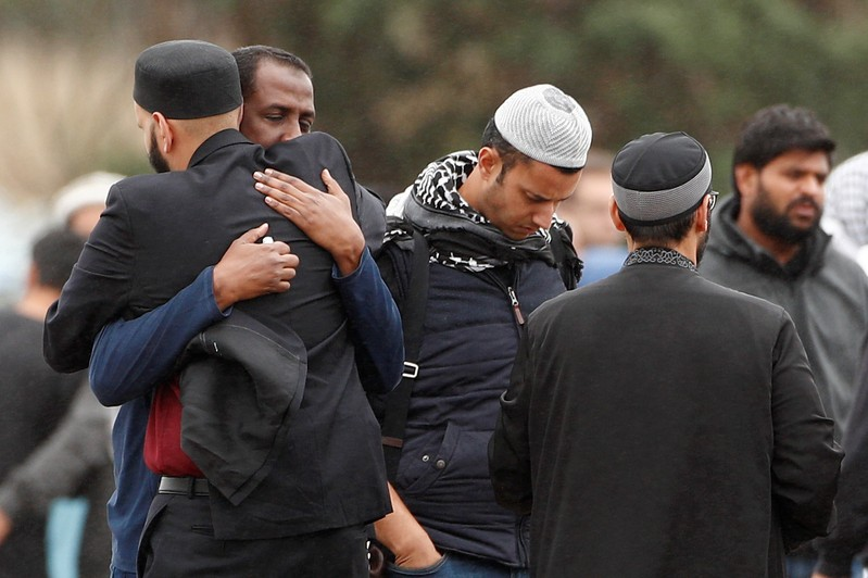 Burial ceremony of the victims of the mosque attacks in Christchurch