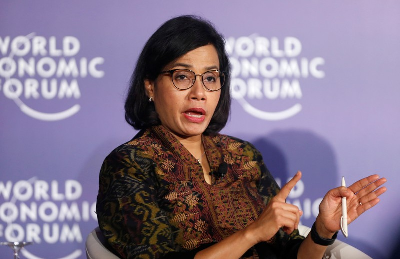 FILE PHOTO: Indonesia's Finance Minister Sri Mulyani Indrawati attends the World Economic Forum on ASEAN at the Convention Center in Hanoi