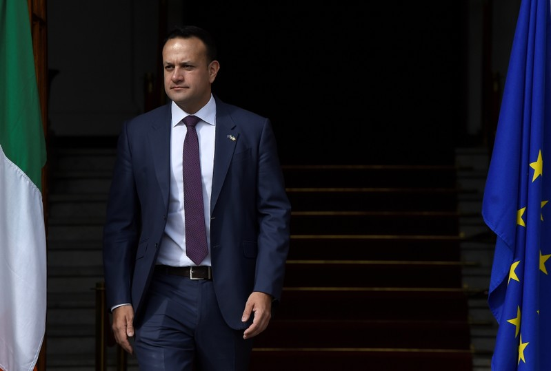 PM (Taoiseach) of Ireland Varadkar waits for President of European Council Tusk in Dublin