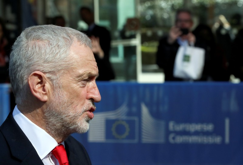 Britain's opposition Labour Party leader Corbyn and EU's Chief Brexit Negotiator Barnier meet in Brussels