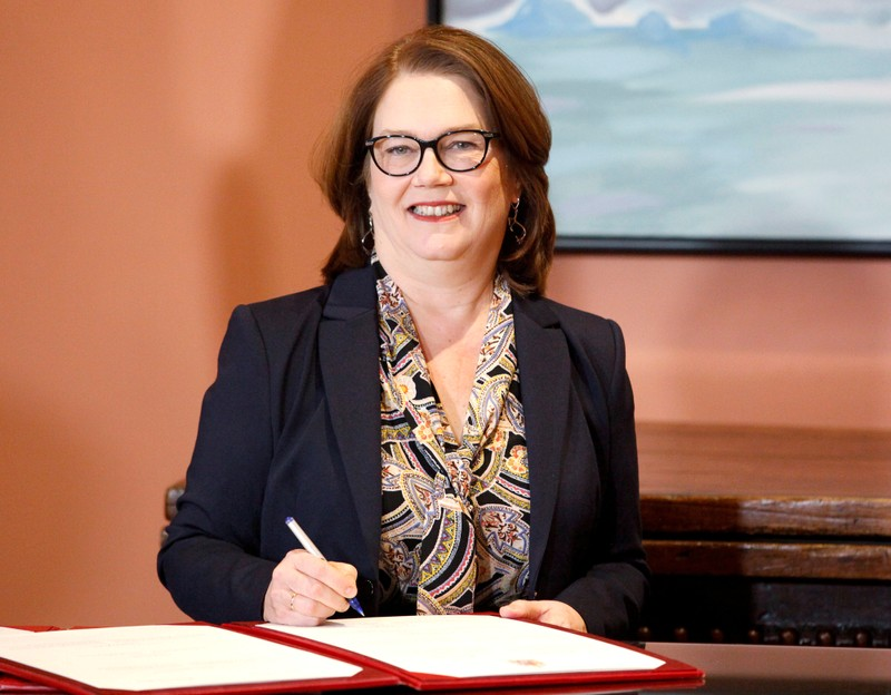 FILE PHOTO: Jane Philpott, when she was newly appointed president of the Treasury Board, in Ottawa, Ontario, Canada