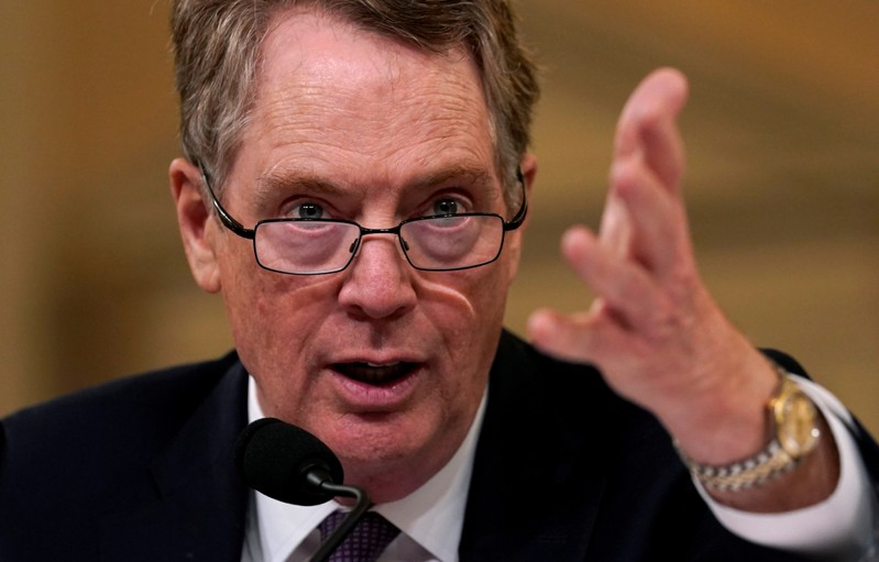FILE PHOTO: Lighthizer testifies on Capitol Hill in Washington