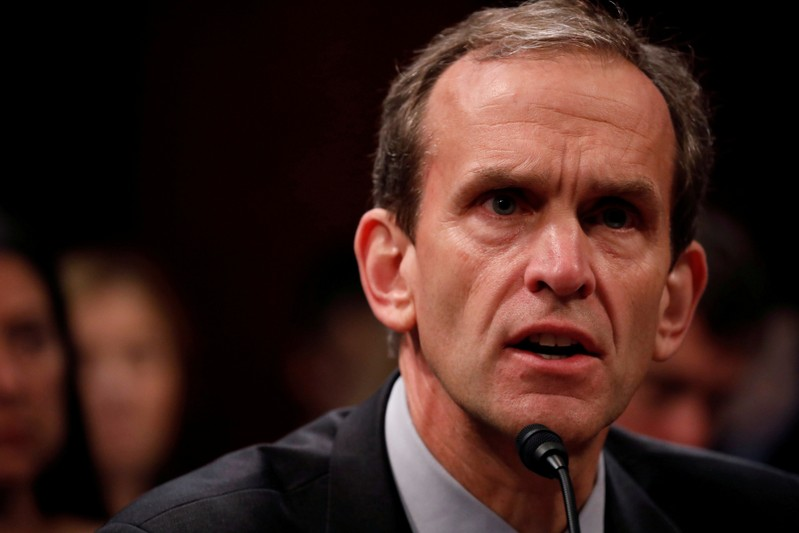 FILE PHOTO: Google Senior Vice President and General Counsel Kent Walker appears before the House Intelligence Committee to answer questions related to Russian use of social media to influence U.S. elections, on Capitol Hill in Washington