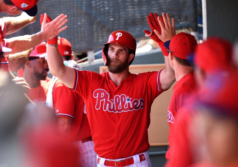 FILE PHOTO: MLB: Spring Training-Toronto Blue Jays at Philadelphia Phillies