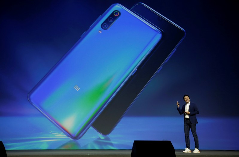 FILE PHOTO: Xiaomi founder and CEO Lei Jun attends a launch ceremony of the new flagship phone Xiaomi Mi 9 in Beijing
