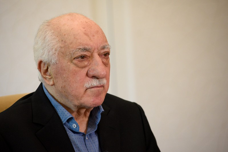FILE PHOTO: U.S.-based cleric Fethullah Gulen at his home in Saylorsburg