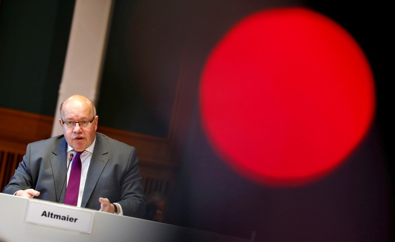 FILE PHOTO: German Economy Minister Peter Altmaier presents the national industry strategy for 2030 during a news conference in Berlin