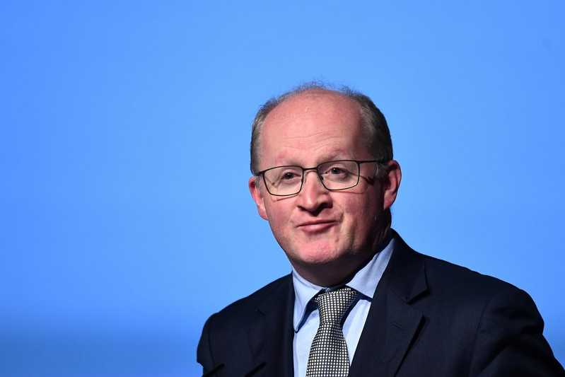FILE PHOTO: Governor of the Central Bank of Ireland Philip Lane speaks at a European Financial Forum event in Dublin
