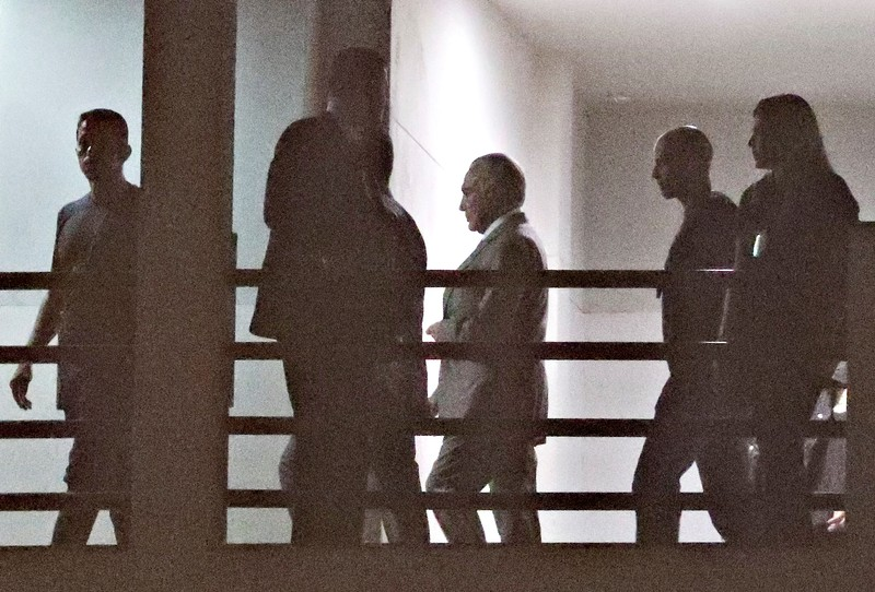 FILE PHOTO: Brazil's former President Michel Temer is seen at the Federal Police headquarters in Rio de Janeiro