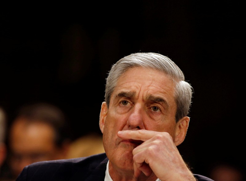FILE PHOTO: Robert Mueller listens at the U.S. Senate Judiciary Committee at an oversight hearing about the FBI on Capitol Hill in Washington