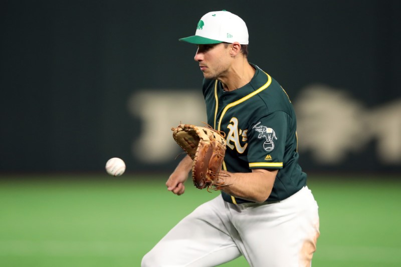 FILE PHOTO: MLB: Spring Training-Oakland Athletics at Yomiuri Giants