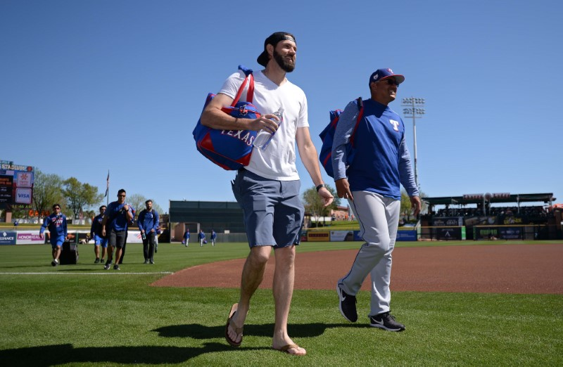 MLB: Spring Training-Texas Rangers at San Francisco Giants