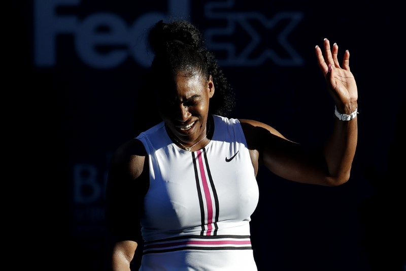 Serena Williams withdraws from Miami Open with knee injury following opening match