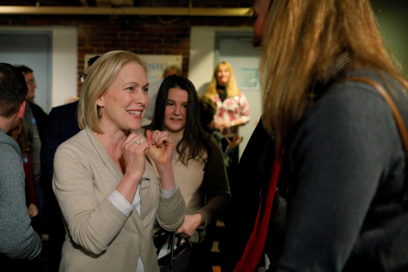 FILE PHOTO: Potential 2020 U.S. presidential candidate Gillibrand arrives for a campaign stop in Manchester