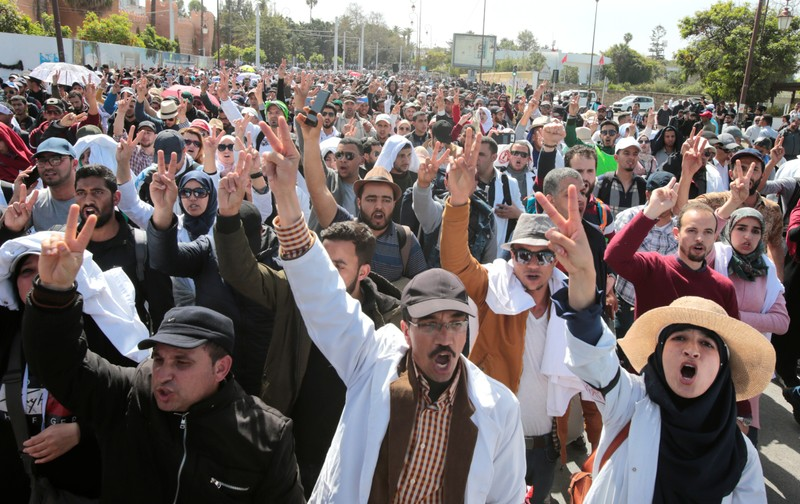 Teachers protest for better work conditions in Rabat