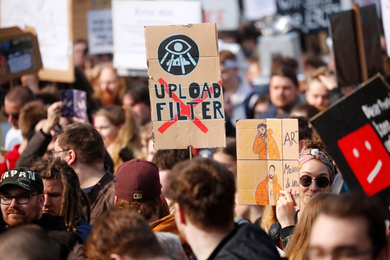 Demonstration against the planned EU copyright reform in Berlin