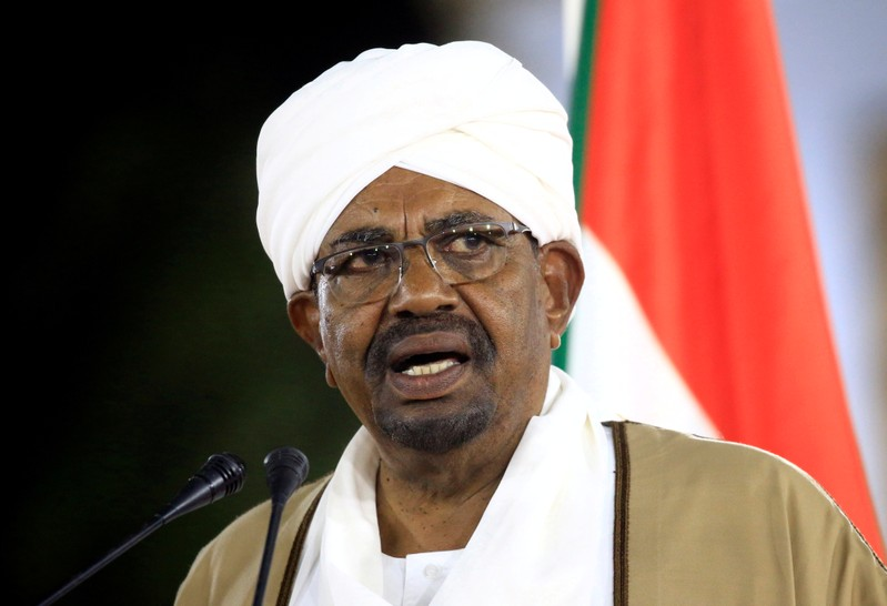 FILE PHOTO: Sudanese President Omar al-Bashir delivers a speech at the Presidential Palace in Khartoum