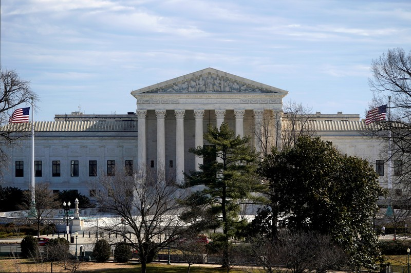 FILE PHOTO: The Supreme Court building is seen from the U.S. Capitol in Washington