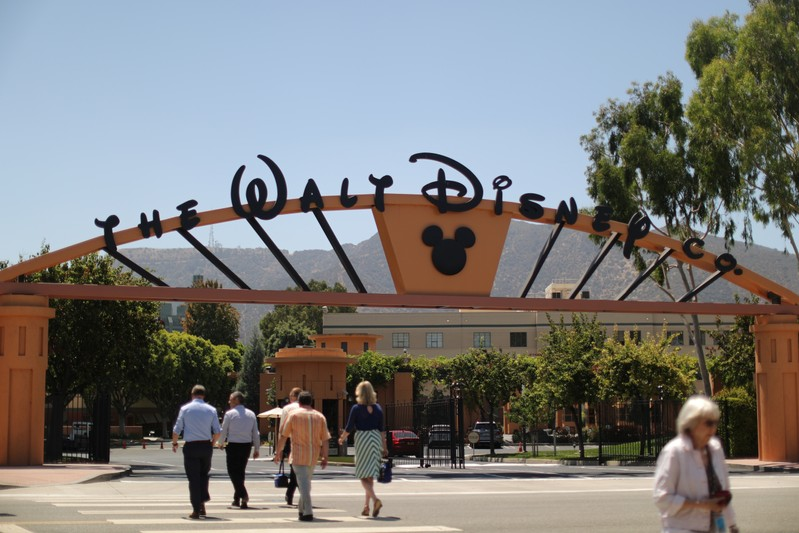 The entrance to Walt Disney studios is seen in Burbank