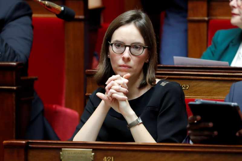 FILE PHOTO: Member of parliament Amelie de Montchalin attends a session at the National Assembly in Paris