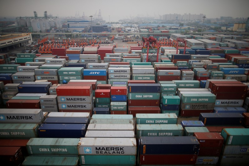 FILE PHOTO: A container terminal is seen at Incheon port in Incheon